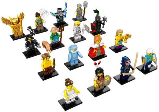 71011-17 Коллекционные Минифигурки 15 серии (Полный Комплект из 16 фигурок)